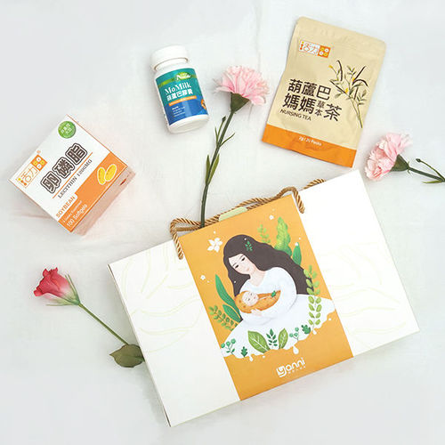 【哺乳輕鬆禮盒】活力mama卵磷脂+葫蘆巴茶+Momilk膠囊