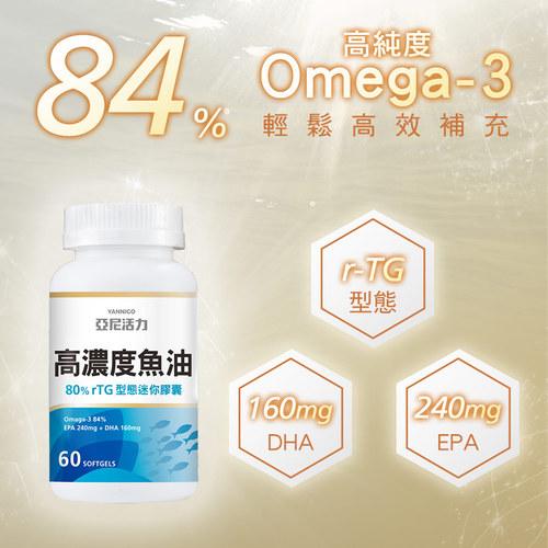 亞尼活力rTG型態80%高濃度魚油