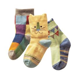 鄉村風立體防滑短襪|3入組