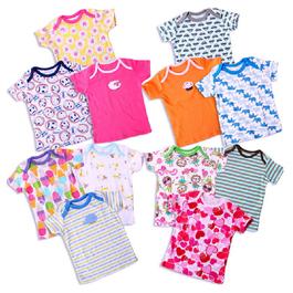 嬰幼兒短袖T恤|純棉童T恤|5件組