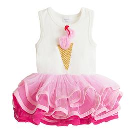 女童無袖冰淇淋澎澎連身裙