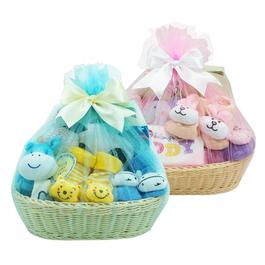 新生兒彌月探訪籐籃禮盒│八件組