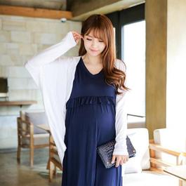 夏季優雅孕婦哺乳連身裙