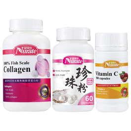 【寵愛女人】青春超值組-膠原蛋白+珍珠粉+維生素C