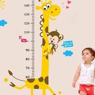 兒童身高尺壁貼|環保無痕重覆撕貼